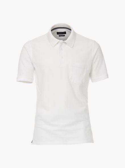 Polo-Shirt in Weiß - CASAMODA