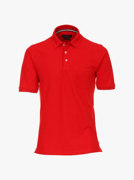 Polo-Shirt in sattes Rot - CASAMODA