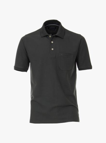 Polo-Shirt in Dunkelgrün - CASAMODA