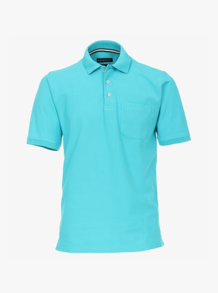 Polo-Shirt in Aquamarine - CASAMODA