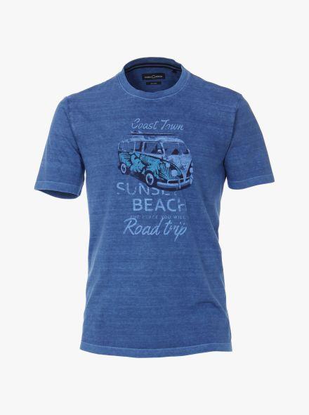T-Shirt in Aquadunkelblau - CASAMODA