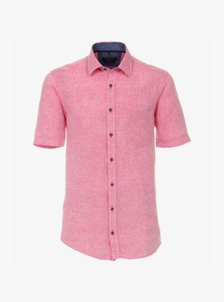 Leinenhemd in Rosarot Casual Fit - CASAMODA