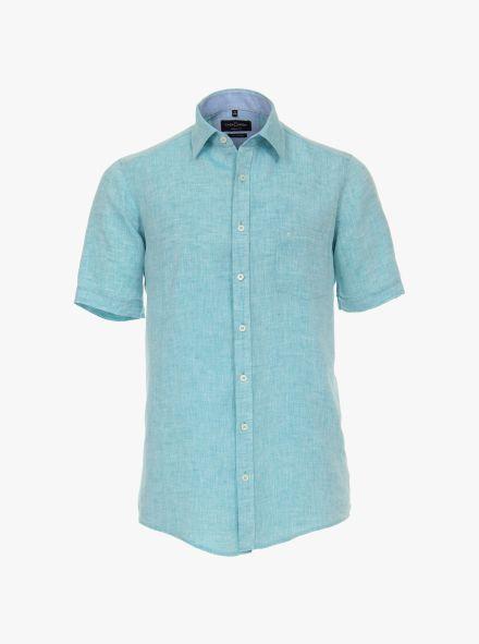 Leinenhemd in Aquamarine Casual Fit - CASAMODA
