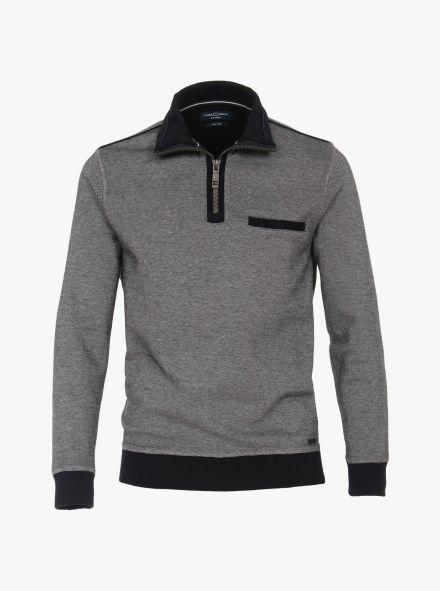 Sweatshirt in graues Mittelblau - CASAMODA