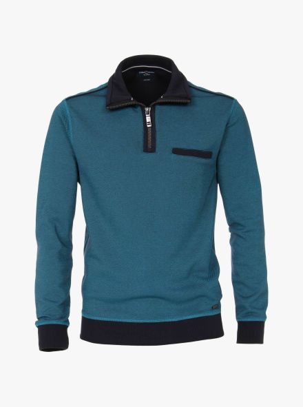Sweatshirt in Türkisblau - CASAMODA