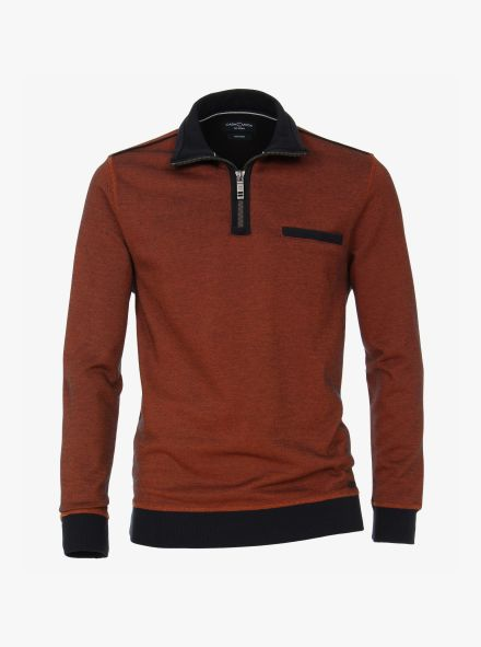 Sweatshirt in Dunkelorange - CASAMODA