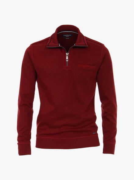Sweatshirt in Dunkelrot - CASAMODA