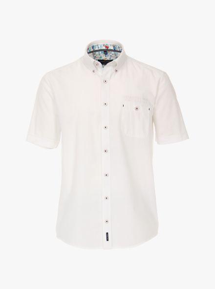 Freizeithemd Kurzarm in Weiß Casual Fit - CASAMODA