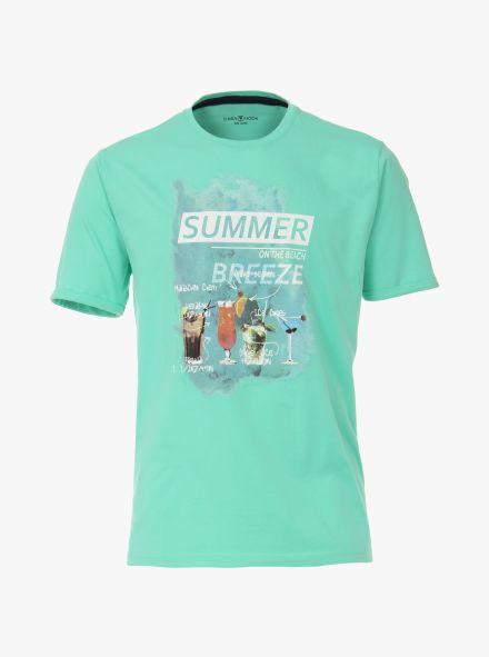T-Shirt in Türkis - CASAMODA