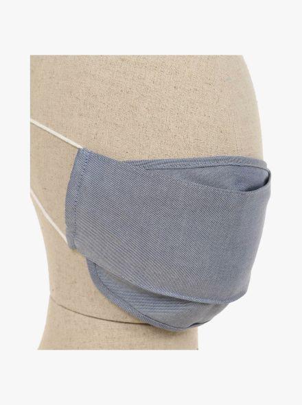Mund-Nasen-Maske Doppelpack in graues Mittelblau - CASAMODA
