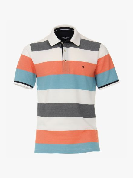 Polo-Shirt in Hellorange - CASAMODA