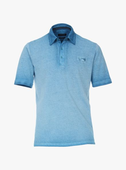 Polo-Shirt in Aqua - CASAMODA