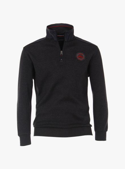 Sweatshirt in Grauschwarz - CASAMODA