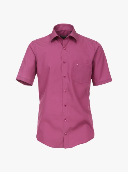 Businesshemd Kurzarm in Pinklila Comfort Fit - CASAMODA