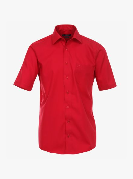 Businesshemd Kurzarm in sattes Rot Comfort Fit - CASAMODA