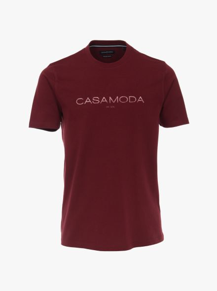 """T-Shirt """"Green""""-Kollektion in Dunkelrot - CASAMODA"""