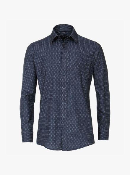 Flanellhemd in Aquadunkelblau Comfort Fit - CASAMODA