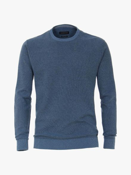 Pullover extra lang in Mittelblau - CASAMODA