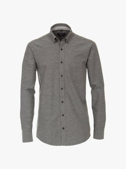 Flanellhemd in Grau Casual Fit - CASAMODA