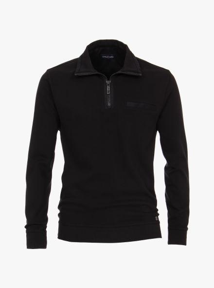 Sweatshirt in Tiefschwarz - CASAMODA