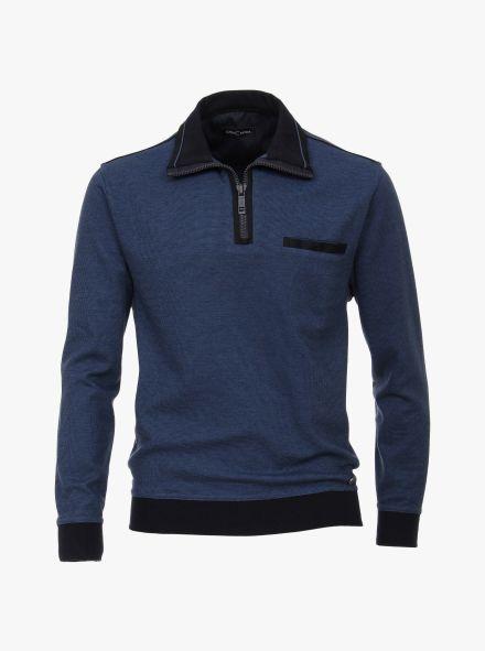 Sweatshirt in mittleres Dunkelblau - CASAMODA