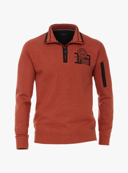 Sweatshirt in Orange - CASAMODA