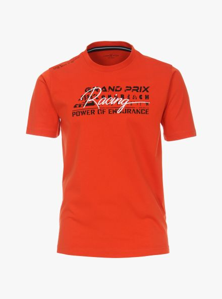"T-Shirt ""Racing""-Kollektion in Dunkelorange - CASAMODA"
