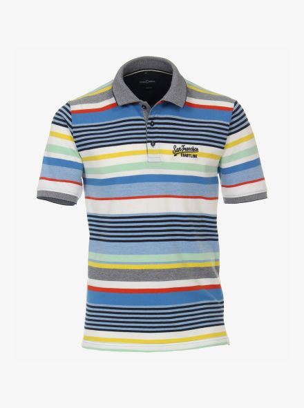 Polo-Shirt in Blau - CASAMODA
