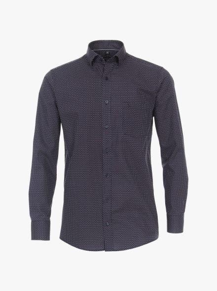 Freizeithemd in 100 blau Comfort Fit - CASAMODA