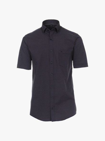 Freizeithemd Kurzarm in 100 blau Comfort Fit - CASAMODA