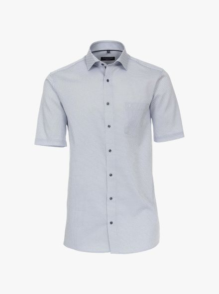 Businesshemd Kurzarm in 100 blau Comfort Fit - CASAMODA