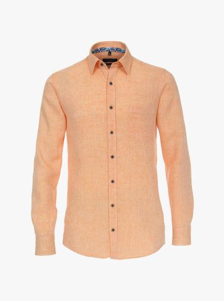 Leinenhemd in Orange Casual Fit - CASAMODA