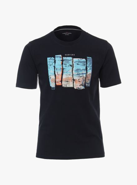 T-Shirt in Dunkelblau - CASAMODA