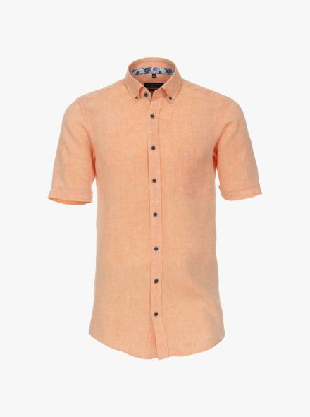 Leinenhemd in Orange Casual Fit - CASAMODA