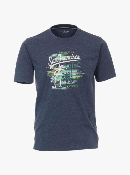 T-Shirt in graues Dunkelblau - CASAMODA