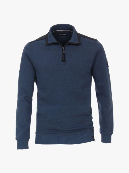 Sweatshirt in dunkles Mittelblau - CASAMODA