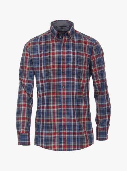 Freizeithemd in sattes Rot Comfort Fit - CASAMODA