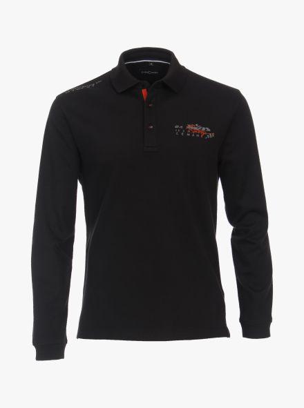 """Polo-Shirt """"Racing""""-Kollektion in Schwarz - CASAMODA"""