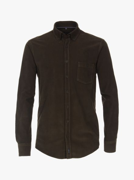 Freizeithemd in Olive Casual Fit - CASAMODA