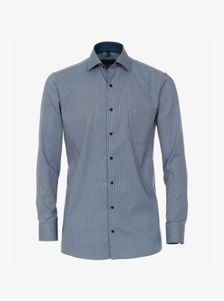 Businesshemd extra langer Arm 72cm in Aquadunkelblau Comfort Fit - CASAMODA
