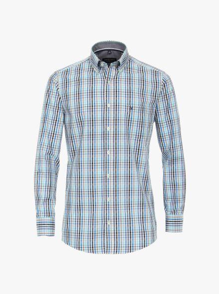 Freizeithemd in Türkisblau Comfort Fit - CASAMODA