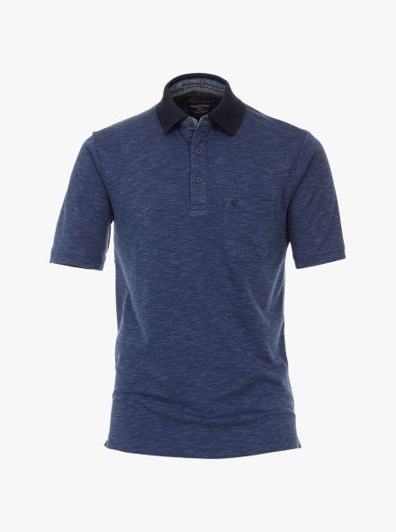 Polo-Shirt in Aquadunkelblau - CASAMODA