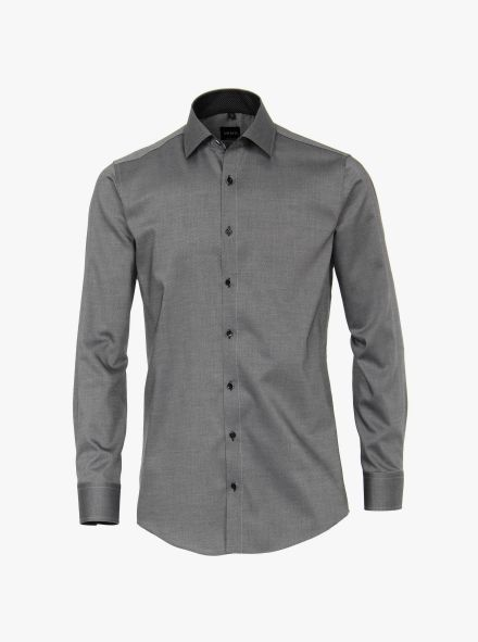 Businesshemd in Dunkelgrau Slim Fit - VENTI