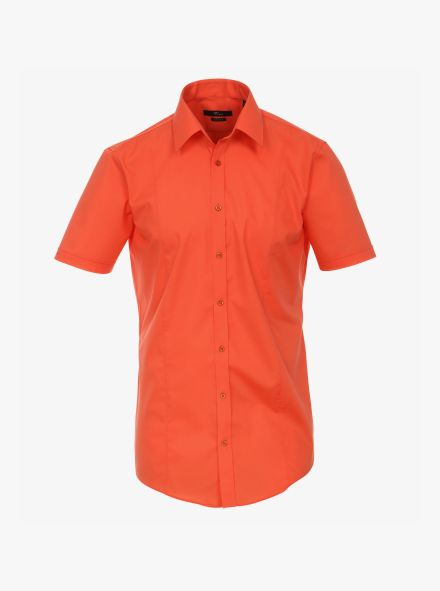 Businesshemd Kurzarm in Orange Body Fit - VENTI