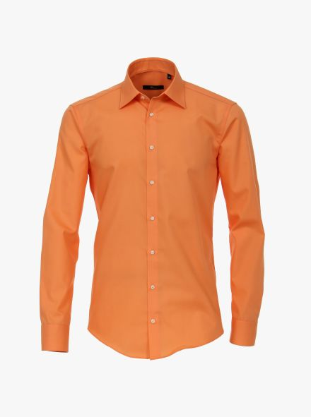 Businesshemd in Orange Modern Fit - VENTI