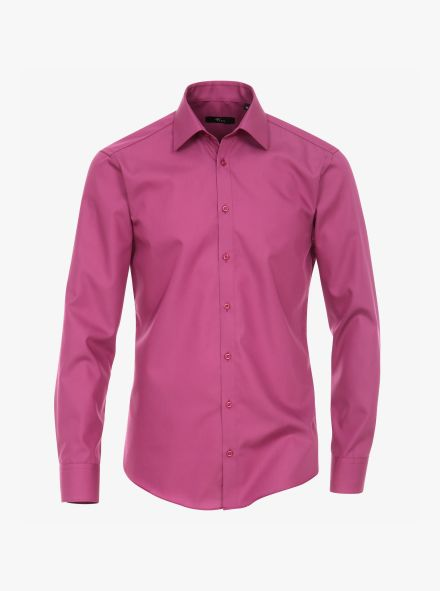 Businesshemd in Magenta Modern Fit - VENTI