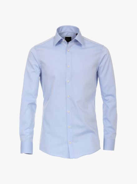 Businesshemd extra langer Arm 72cm in helles Mittelblau Modern Fit - VENTI