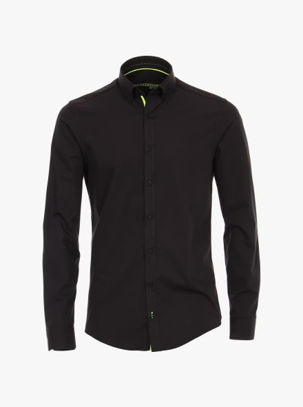 Sneakershirt in Schwarz Modern Fit - VENTI