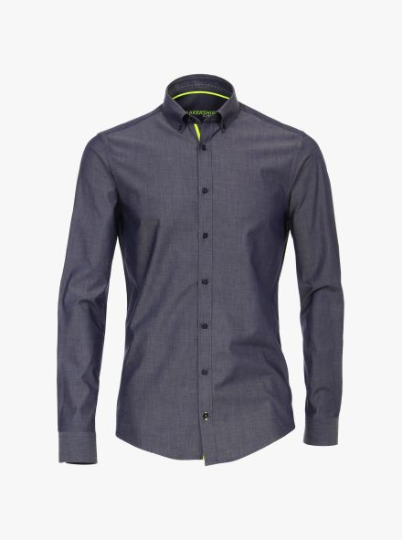 Sneakershirt in graues Dunkelblau Modern Fit - VENTI