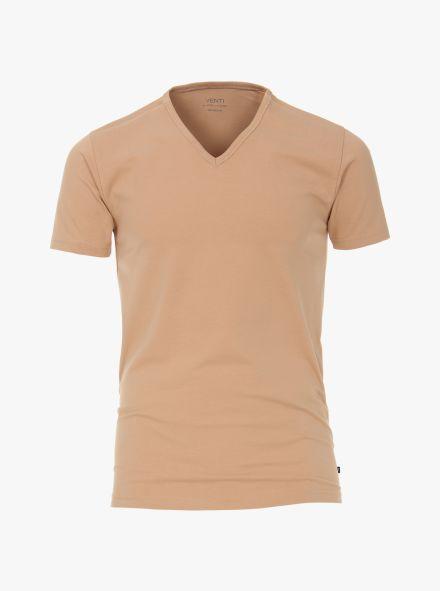 T-Shirt Doppelpack in Beige - VENTI